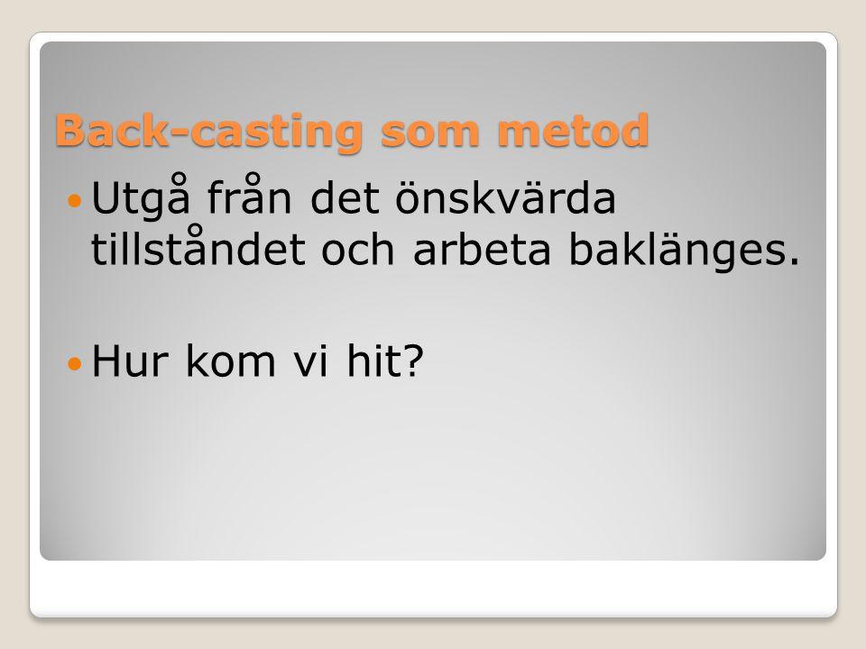 Back-casting som metod