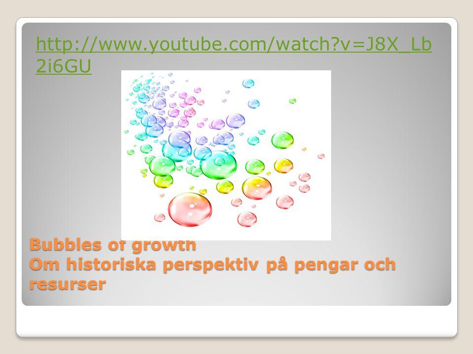 Bubbles of growth Om historiska perspektiv på pengar och resurser