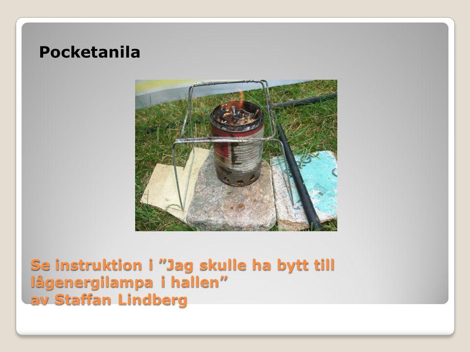 Pocketanila Se instruktion i Jag skulle ha bytt till lågenergilampa i hallen av Staffan Lindberg