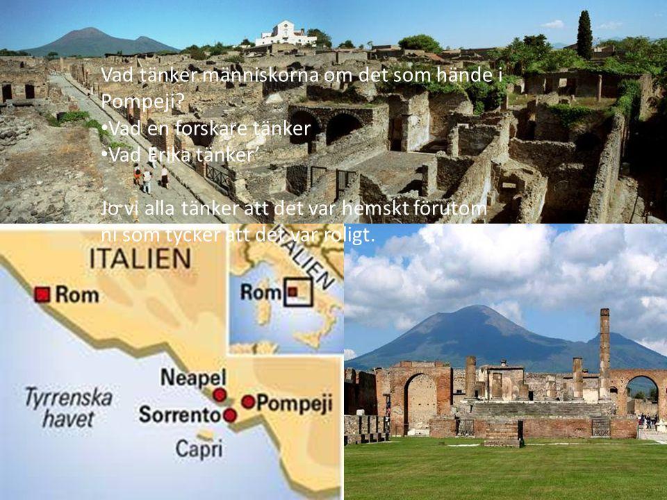 Vad tänker människorna om det som hände i Pompeji