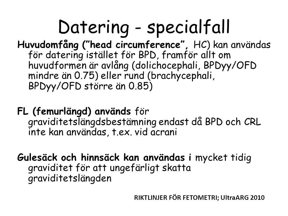 Datering - specialfall