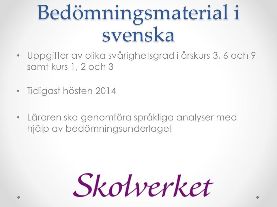 Bedömningsmaterial i svenska
