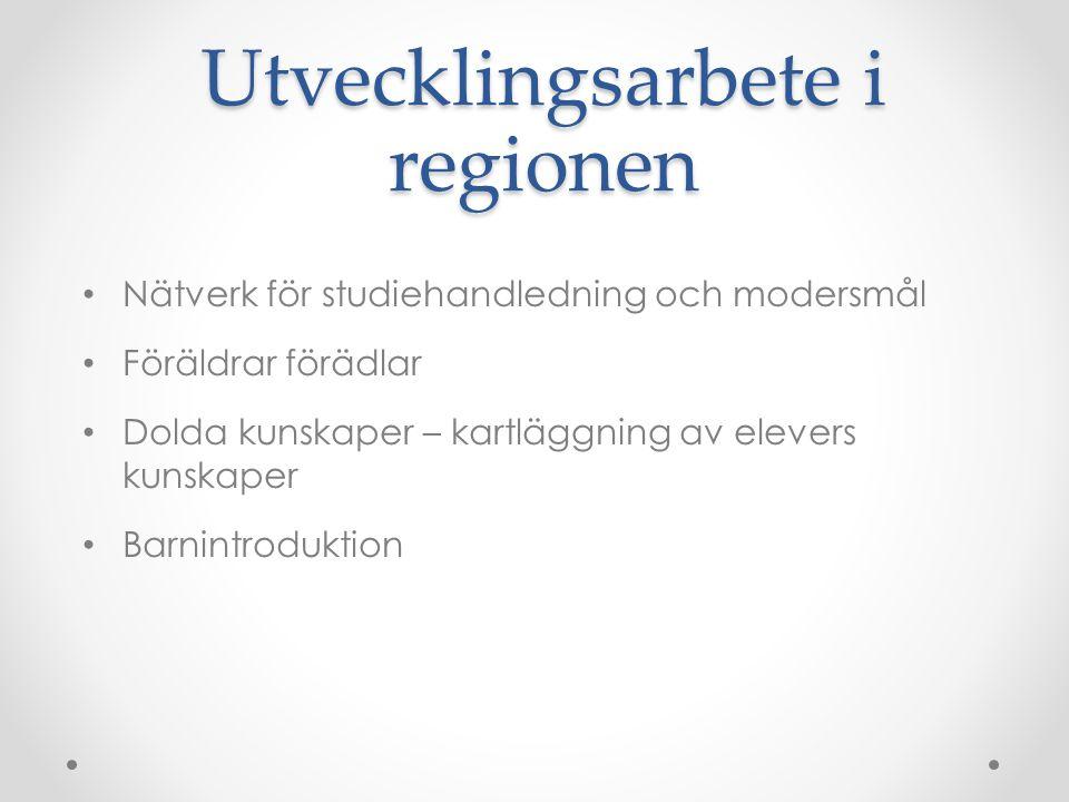 Utvecklingsarbete i regionen