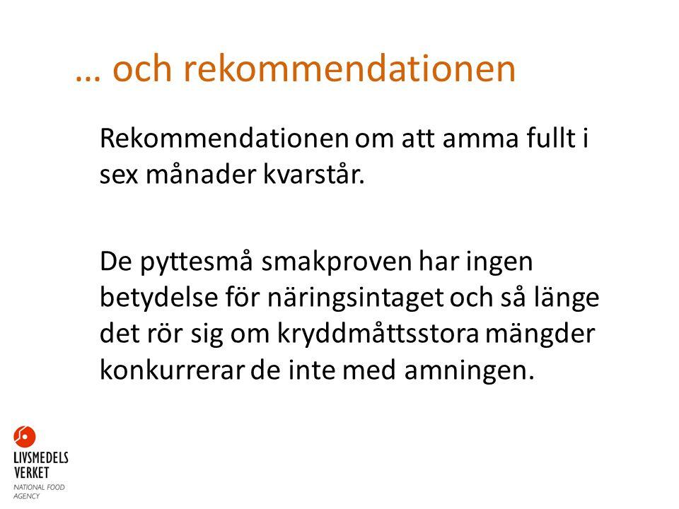 … och rekommendationen