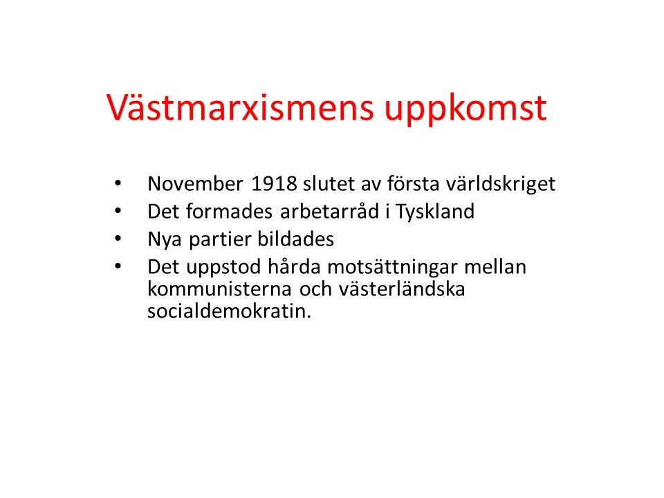 Västmarxismens uppkomst