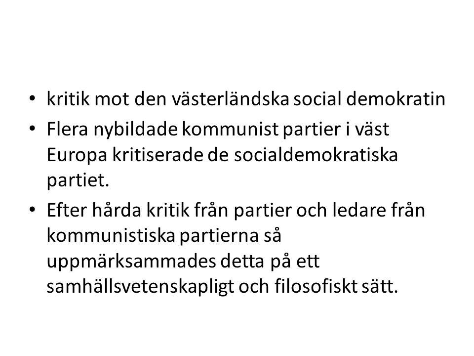kritik mot den västerländska social demokratin