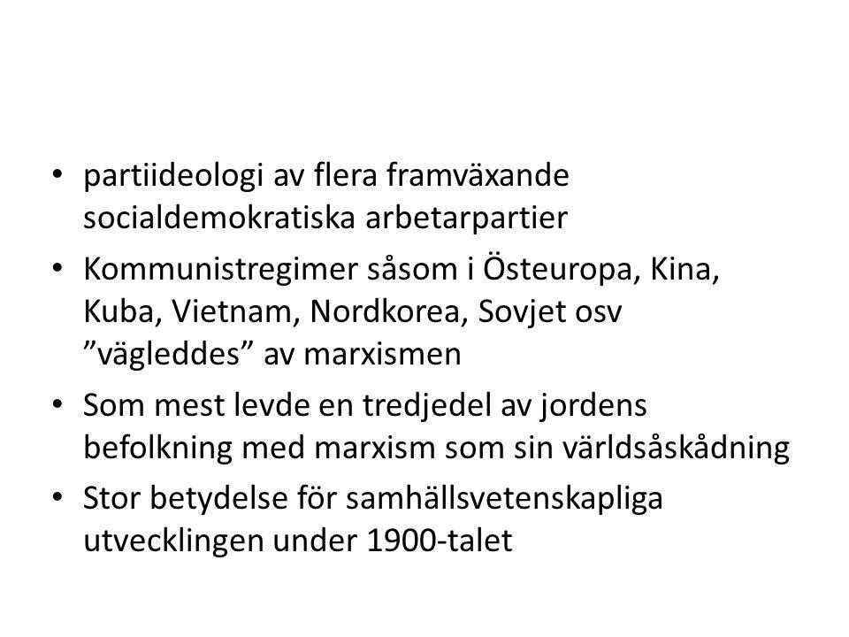 partiideologi av flera framväxande socialdemokratiska arbetarpartier