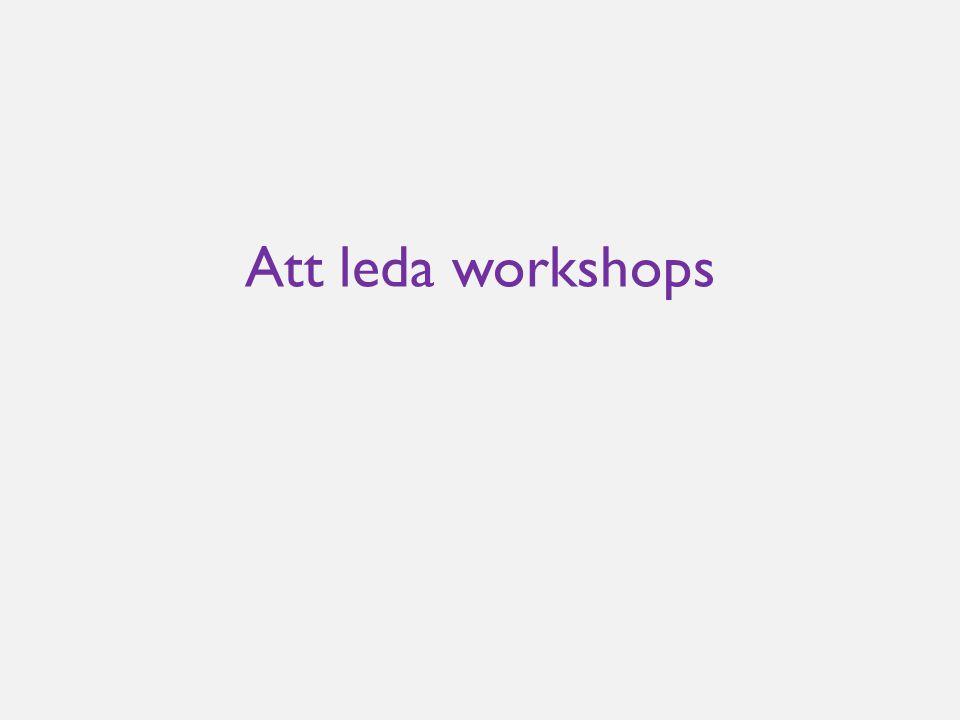 Att leda workshops