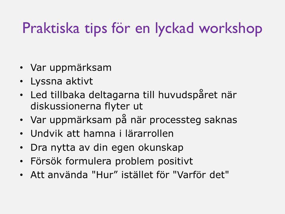 Praktiska tips för en lyckad workshop