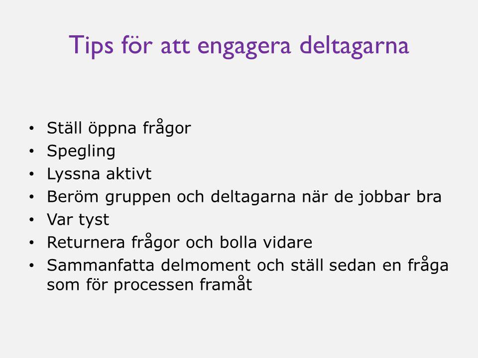 Tips för att engagera deltagarna