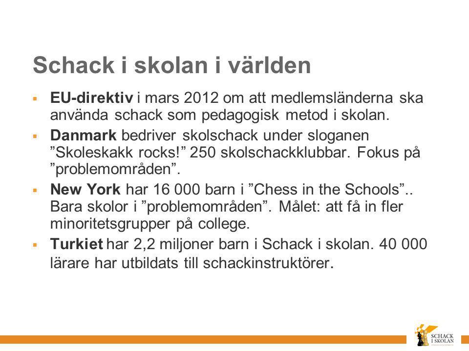 Schack i skolan i världen