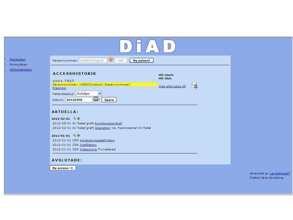 Registrerar avliden då avslutas alla accesser och annan som ej är avslutat tex anv def och instill CDK