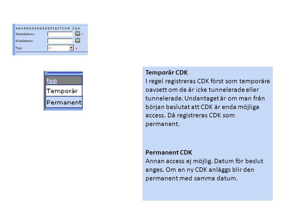 Temporär CDK