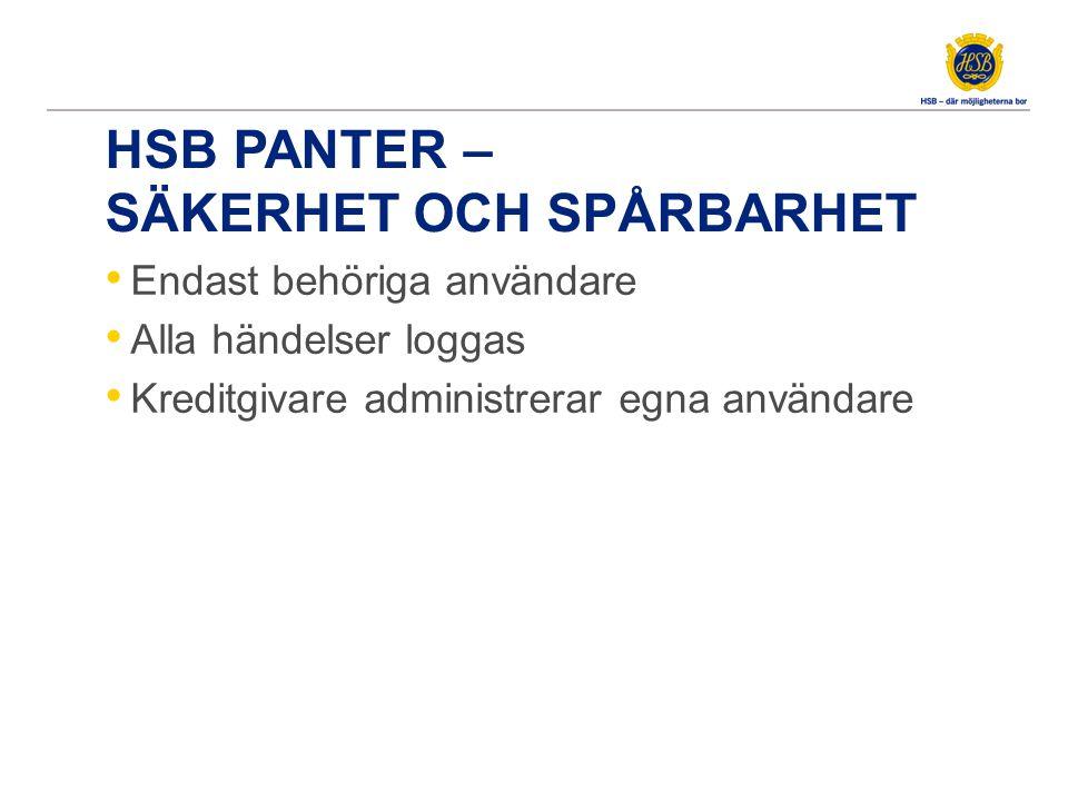 HSB Panter – Säkerhet och spårbarhet