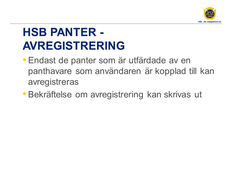 HSB Panter – Sammanfattning av Fördelar