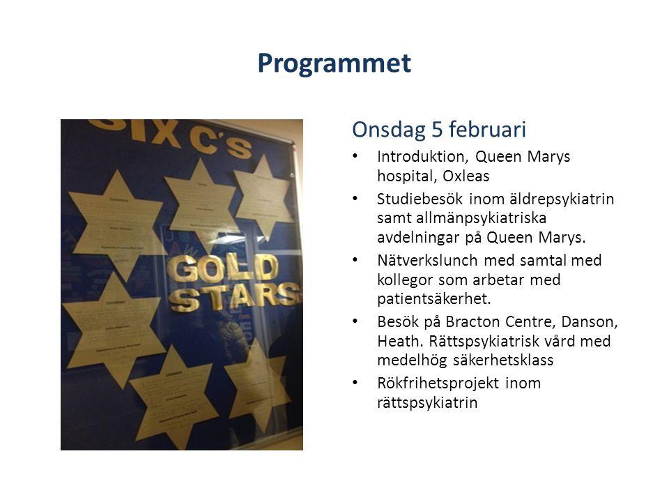 Programmet Onsdag 5 februari