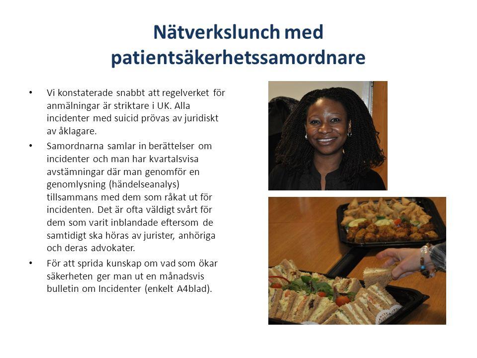 Nätverkslunch med patientsäkerhetssamordnare
