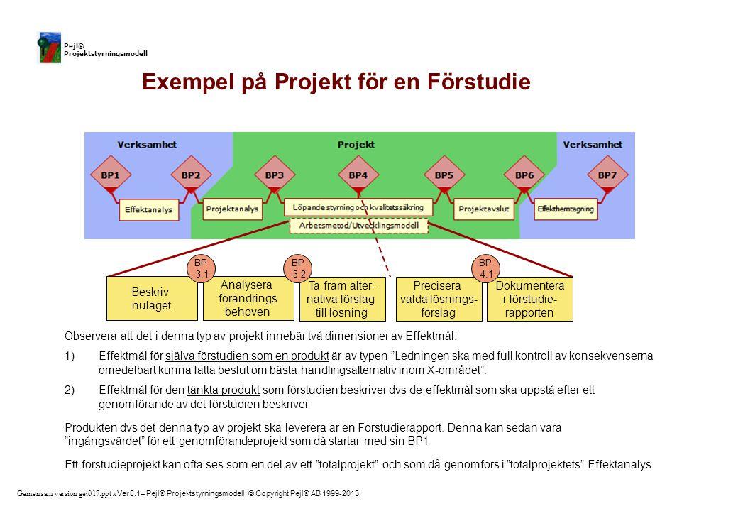 Exempel på Projekt för en Förstudie