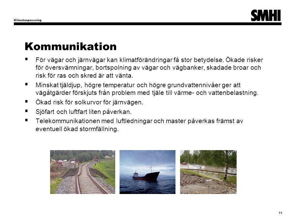 Klimatanpassning Kommunikation.