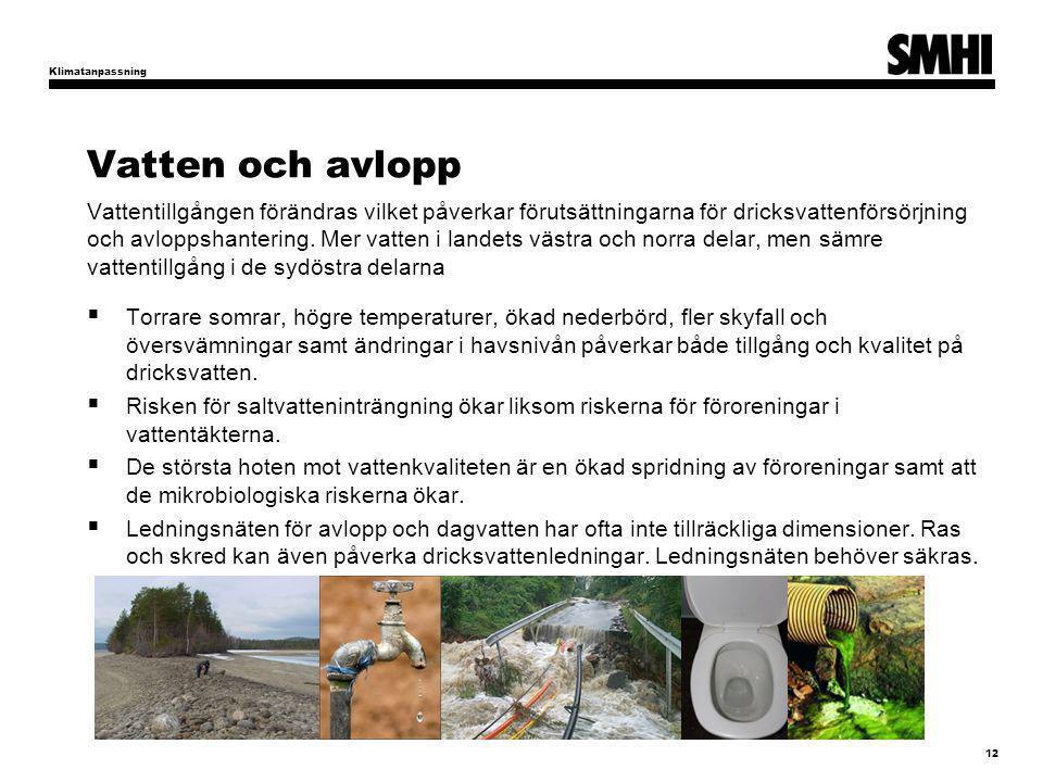 Klimatanpassning Vatten och avlopp.