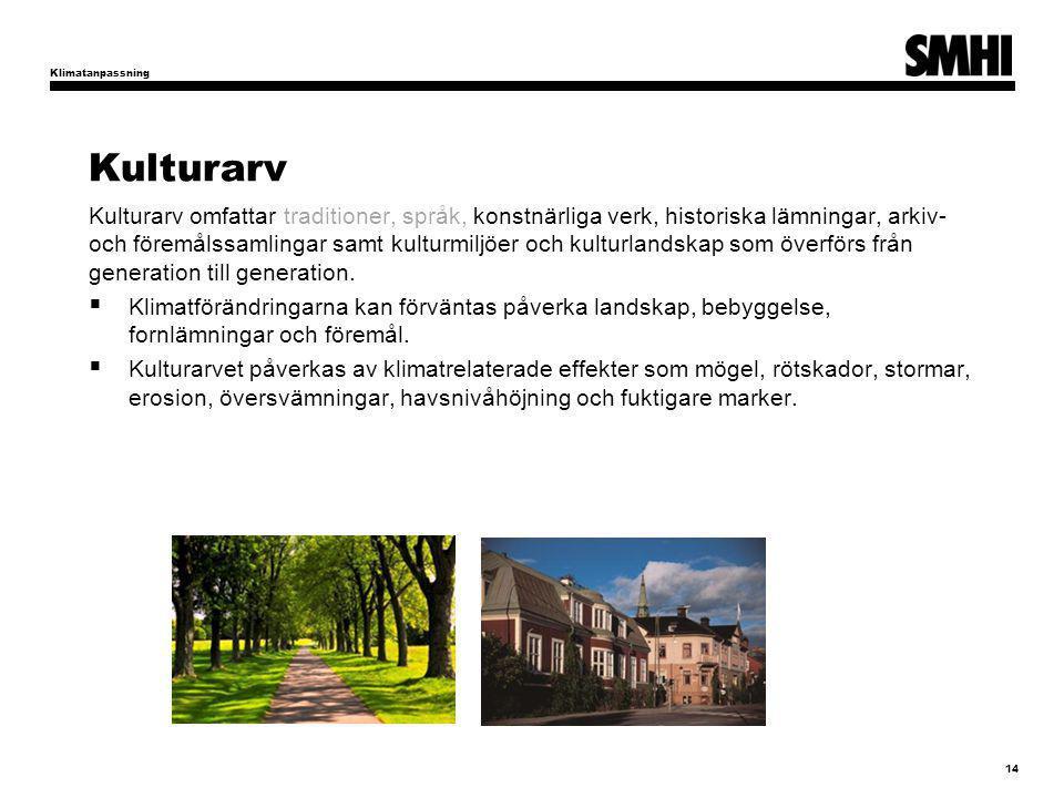 Klimatanpassning Kulturarv.