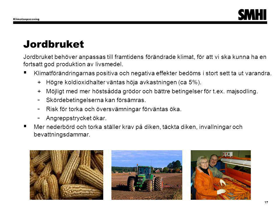 Klimatanpassning Jordbruket.