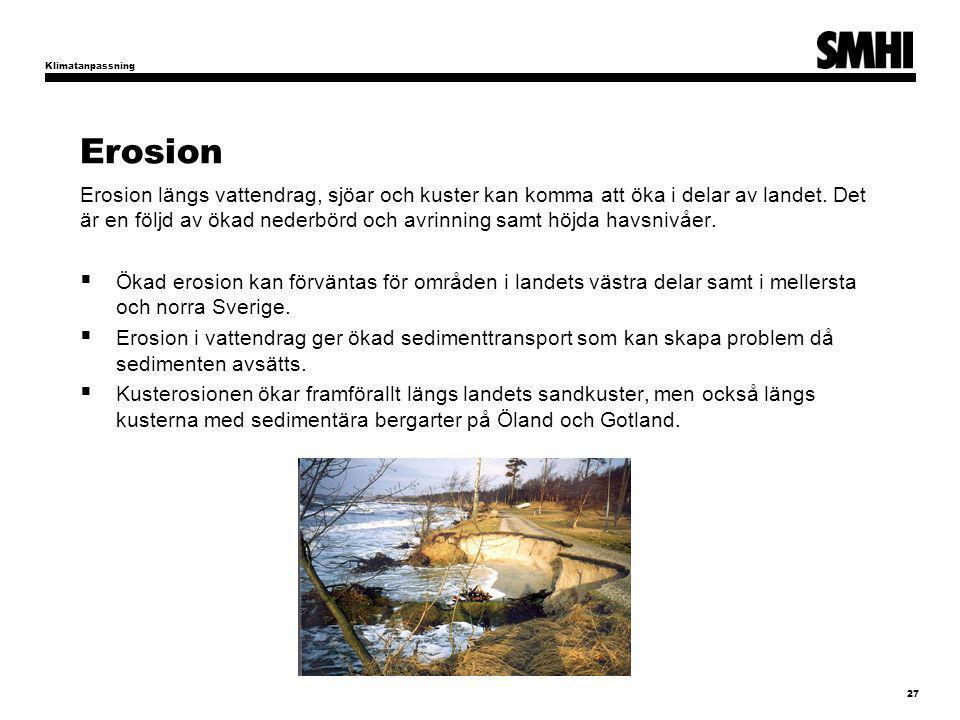 Klimatanpassning Erosion.