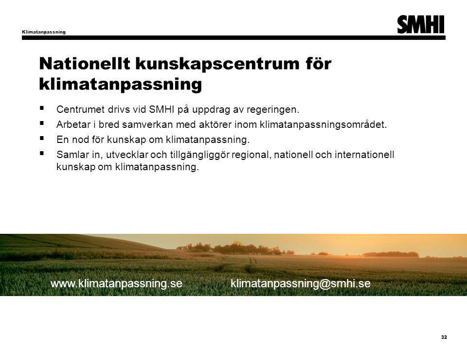 Nationellt kunskapscentrum för klimatanpassning