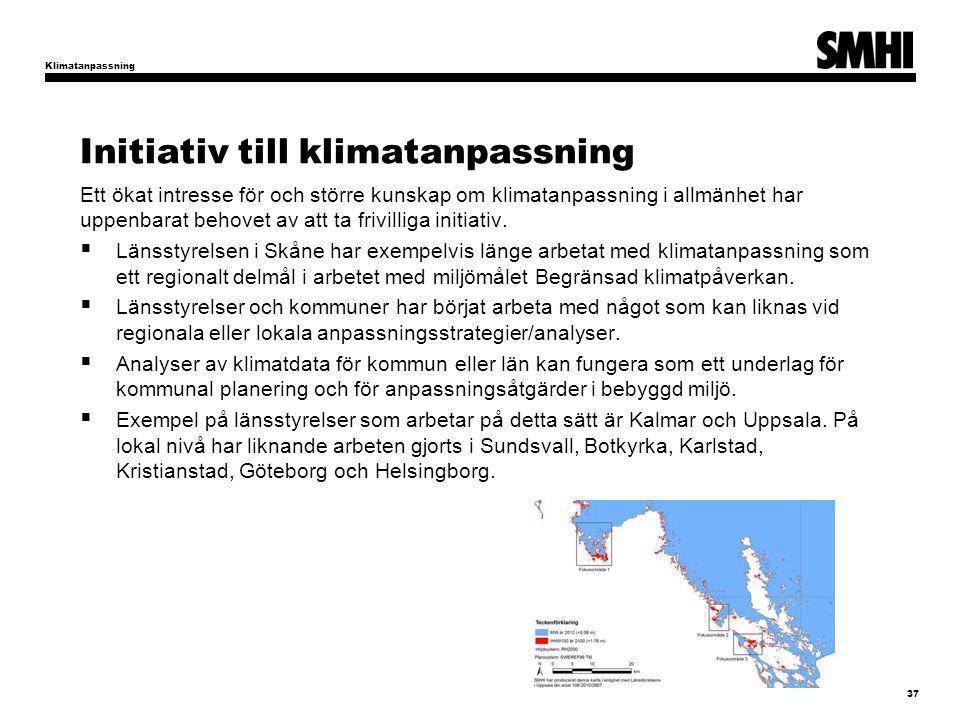 Initiativ till klimatanpassning