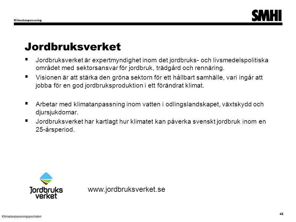 Jordbruksverket www.jordbruksverket.se