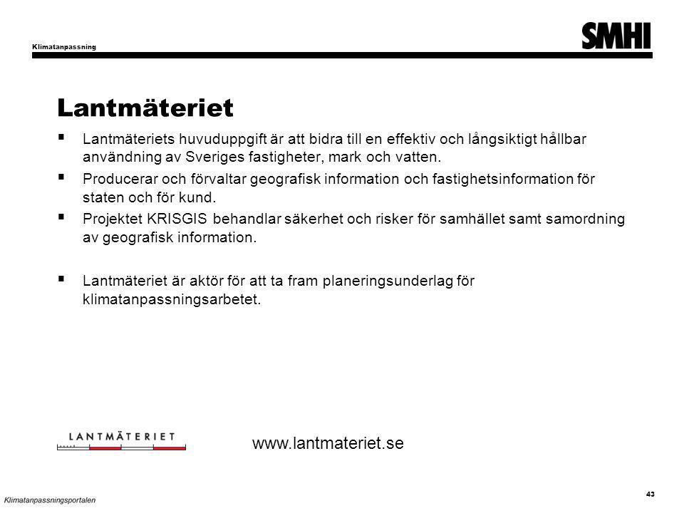 Lantmäteriet www.lantmateriet.se