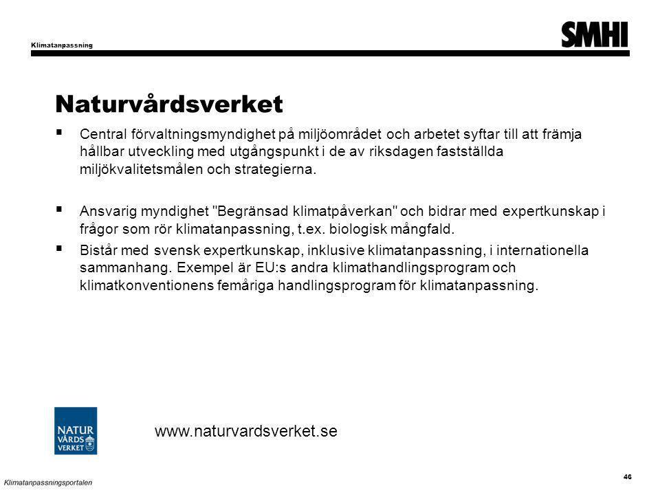 Naturvårdsverket www.naturvardsverket.se