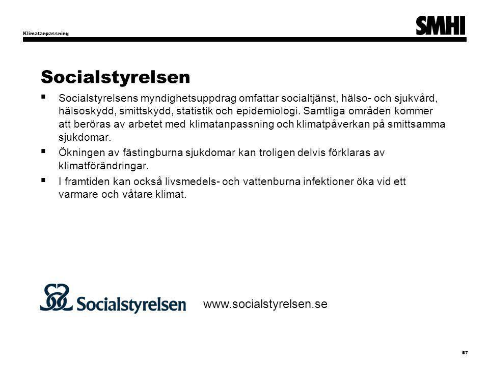 Socialstyrelsen www.socialstyrelsen.se