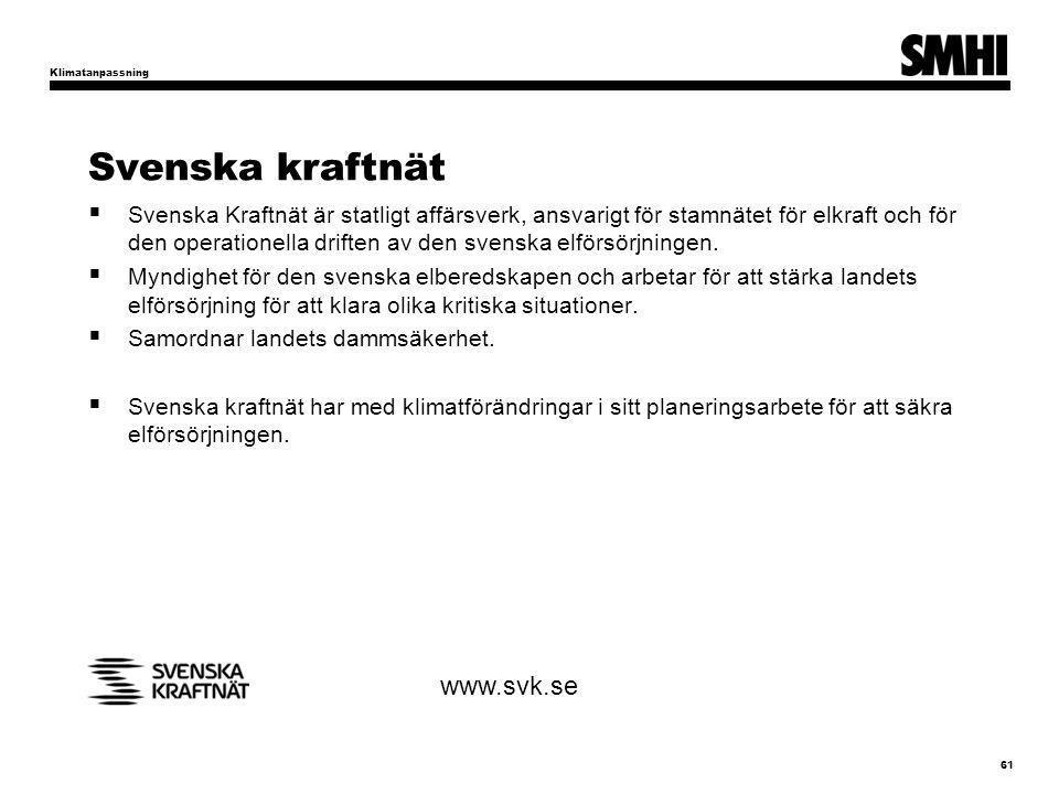 Svenska kraftnät www.svk.se