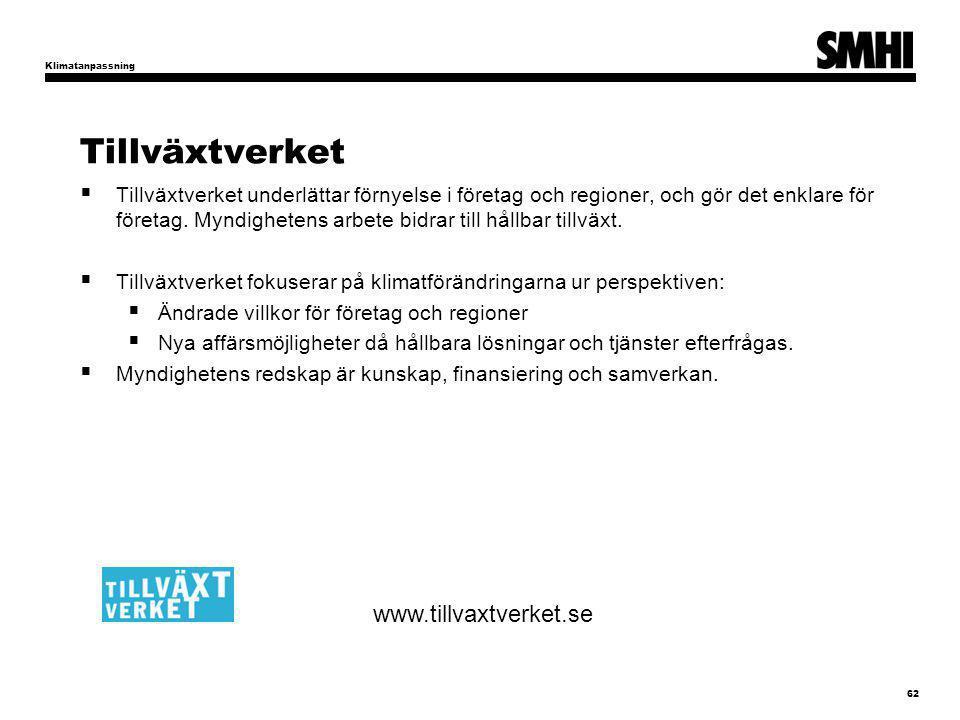 Tillväxtverket www.tillvaxtverket.se