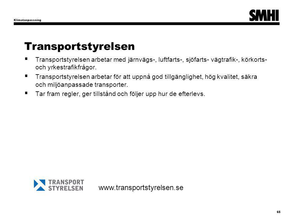 Transportstyrelsen www.transportstyrelsen.se