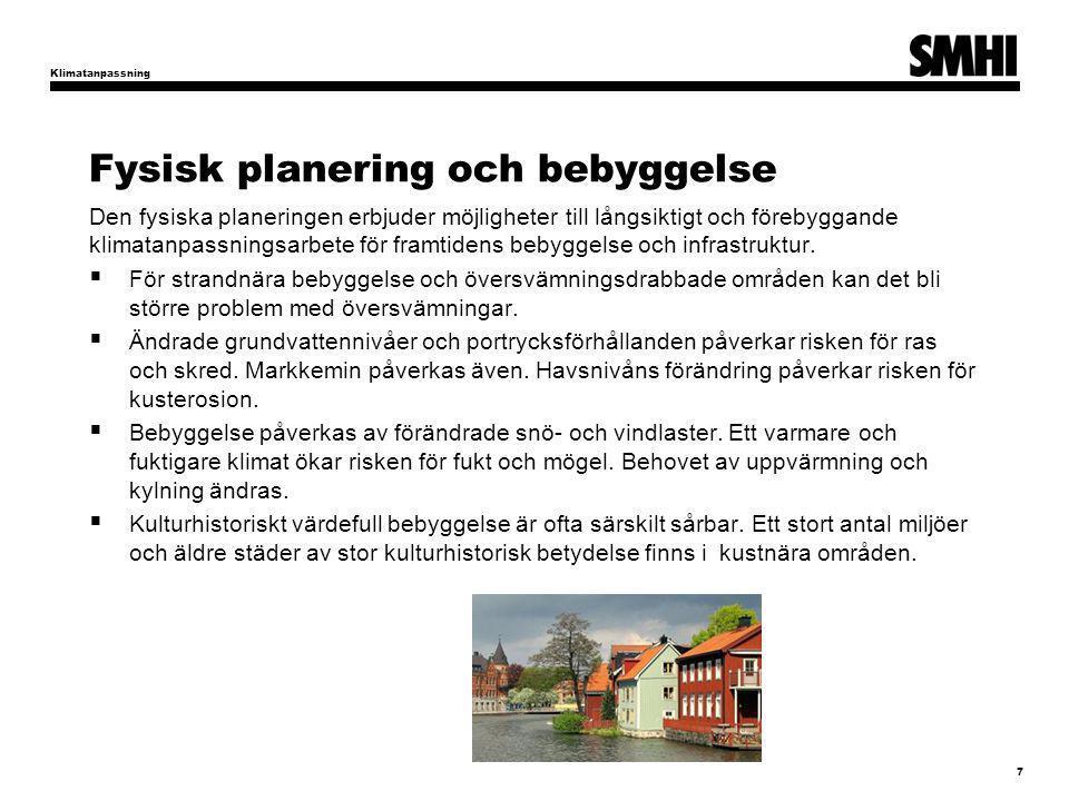 Fysisk planering och bebyggelse
