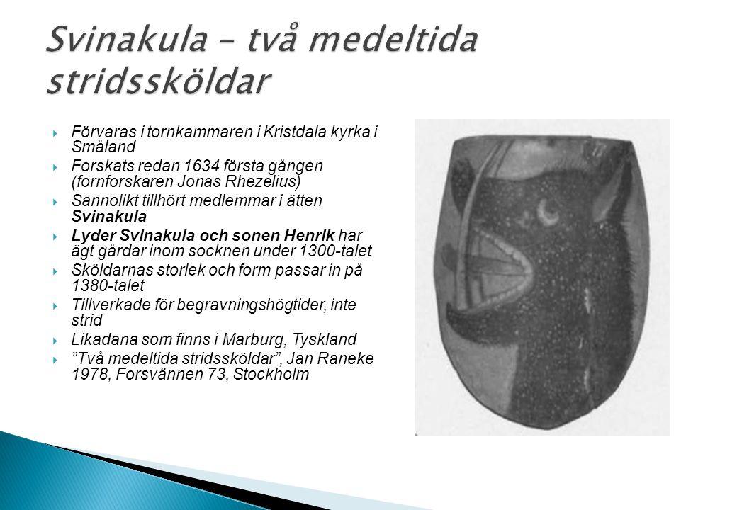 Svinakula – två medeltida stridssköldar