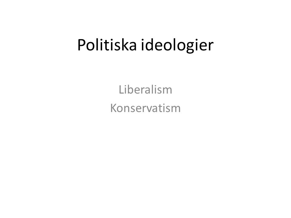 Liberalism Konservatism