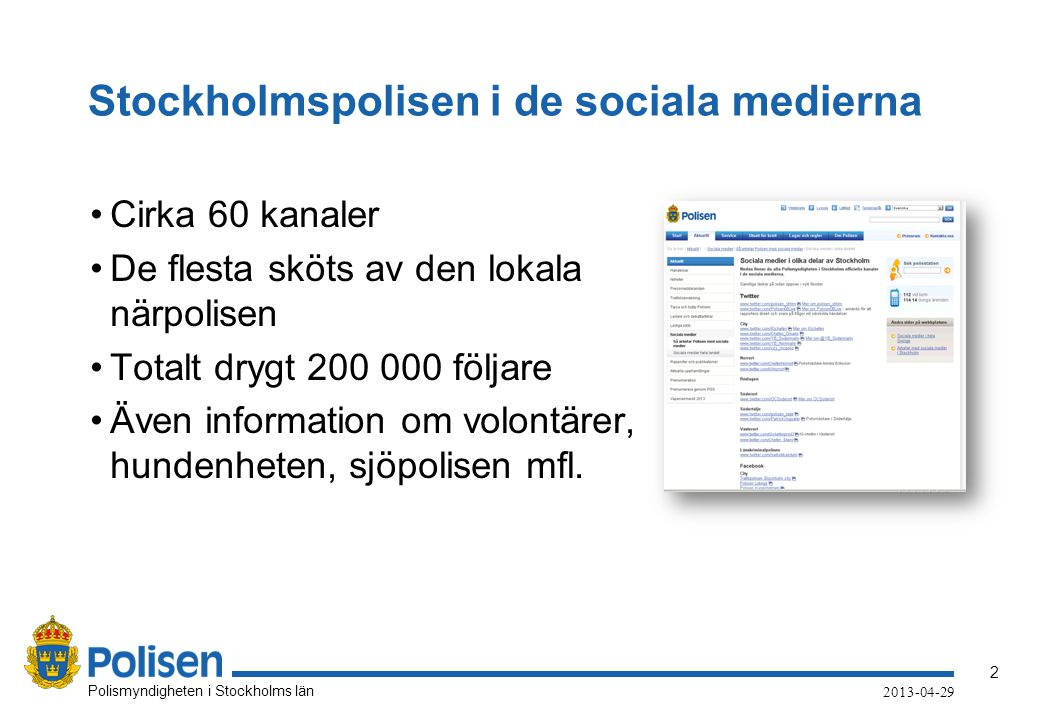 Stockholmspolisen i de sociala medierna