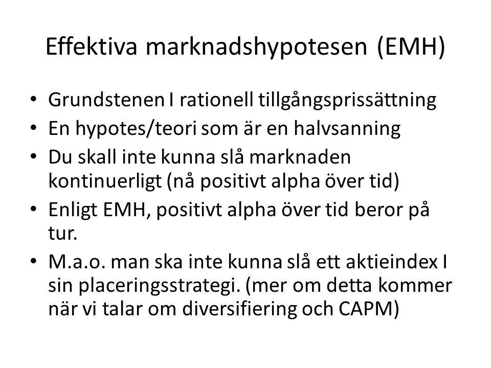 Effektiva marknadshypotesen (EMH)