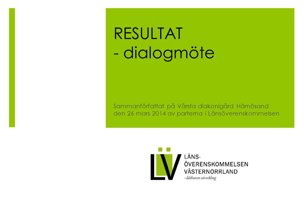 RESULTAT - dialogmöte Sammanförfattat på Vårsta diakonigård Härnösand