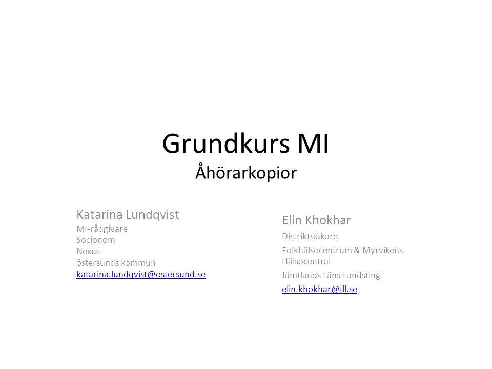 Grundkurs MI Åhörarkopior