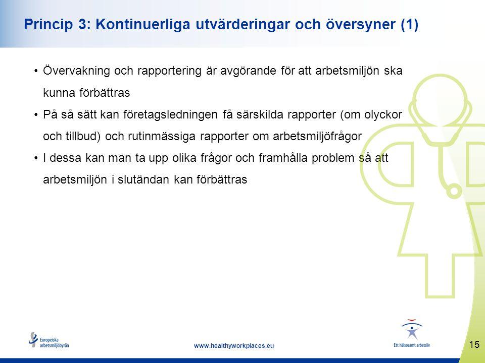 Princip 3: Kontinuerliga utvärderingar och översyner (1)