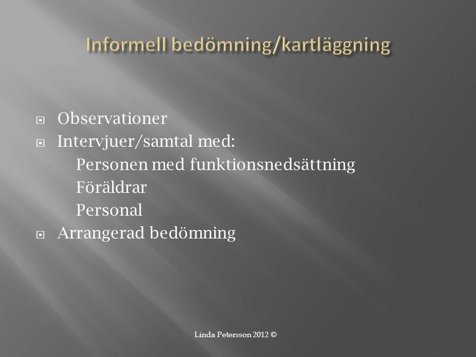 Informell bedömning/kartläggning