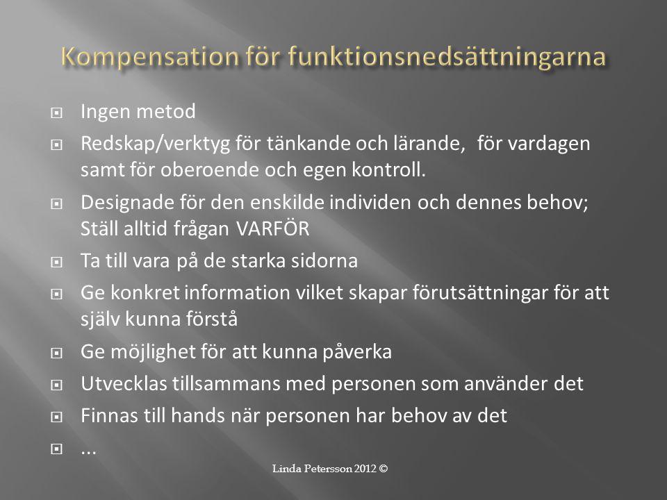 Kompensation för funktionsnedsättningarna