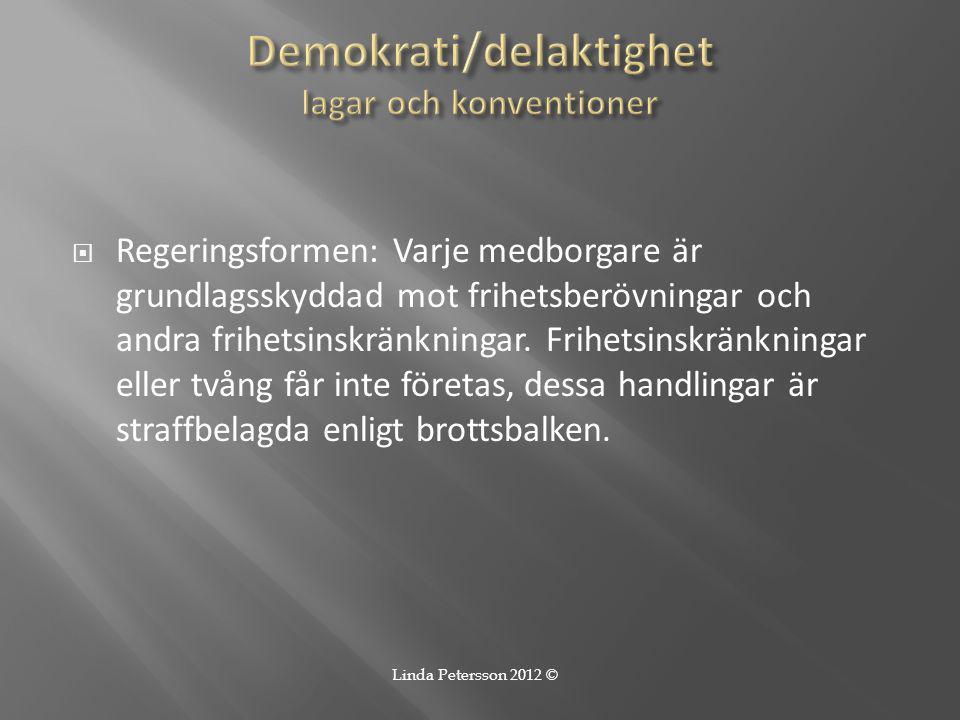 Demokrati/delaktighet lagar och konventioner