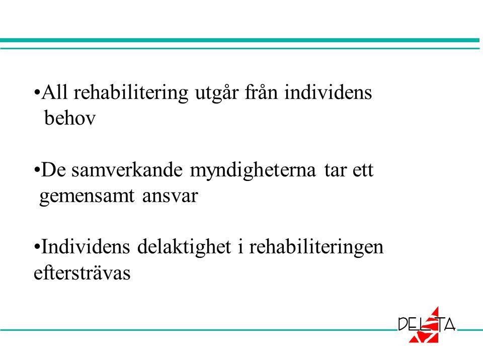 All rehabilitering utgår från individens behov