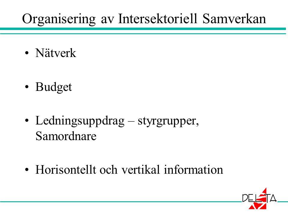 Organisering av Intersektoriell Samverkan