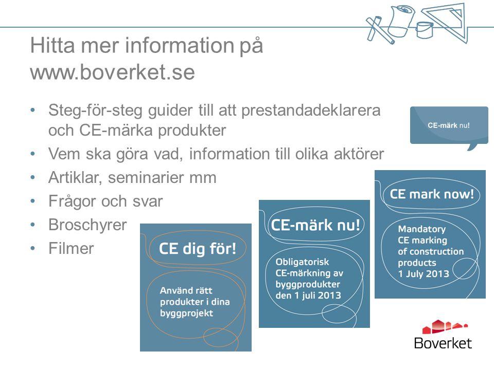 Hitta mer information på www.boverket.se
